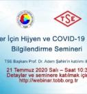 KOBİ'ler İçin Hijyen ve COVID-19 Belgeleri Bilgilendirme Semineri